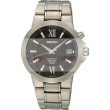 Seiko Mens Titanium Kinetic Watch SKA483P1