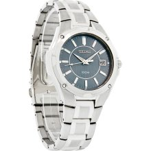 Seiko Quartz Mens Blue Dial Stainless Steel Bracelet Dress Watch SGEE59 New
