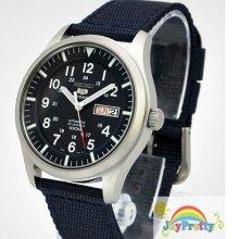 Seiko SNZG11K1 5 Military Nylon Strap Automatic Mens Watch