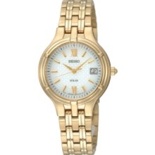 Seiko Watch, Womens Gold-Tone Stainless Steel Bracelet 28mm SUT018