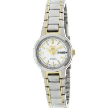 Seiko Women's 5 Automatic SYME44K Two-Tone Stainless-Steel Automatic Watch with White Dial