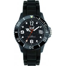 SI.BK.U.S.12 Ice-Watch Sili Black Carbon Dial Silicon Watch