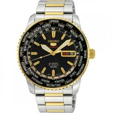 SRP130J1 SRP130 Seiko 5 Sports Automatic World Time Mens Watch