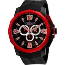 Stuhrling 300 Admiral Swiss Chronograph Rubber Strap Sports Mens Watch
