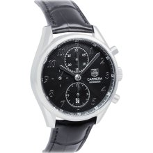 Tag Heuer Carrera Automatic Chronograph Leather Mens Watch CAS2110.FC6266
