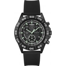 Timex T2n886 Mens Style Chrono Black Watch Rrp £84.99