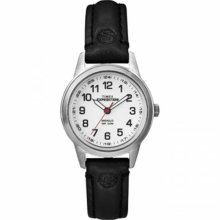 Timex Womens T49872 Expedition Metal Field Mini Black Leather Strap Watch Wristw