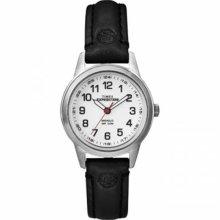 Timex Womens T49872 Expedition Metal Field Mini Black Leather Strap Watch Wristw