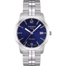 Tissot Classic wrist watches: Pr100 Steel Blue t049.410.11.047.01
