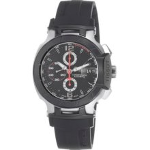 Tissot Men s T-Race Swiss Made Automatic Chronograph Rubber Strap Watch