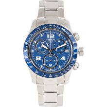 Tissot Men's 'V8' Blue Dial Stainless Steel Chronograph Watch (T0394171104702)