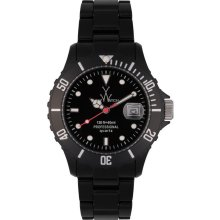 Toy FL13BK Women's Black Dial Plasteramic Watch
