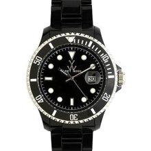 Toywatch classic plasteramic black watch. 32001-bk