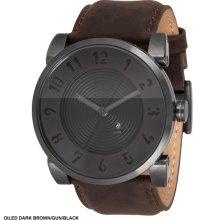 Vestal Doppler Watch - Oiled Dark Brown/Gun/Black DOP008