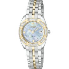 Womens Citizen Eco Drive Paladion Watch with Diamonds in Stainless Steel (EW1594-55D)