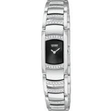 Womens Citizen Eco-Drive Silhouette Crystal Watch with Swarovski Crystals in Stainless Steel (EG2730-57E)