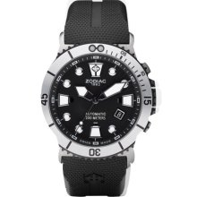 Zodiac ZO8013 Watch Oceanaire Mens - Black Dial Stainless Steel Case Automatic Movement