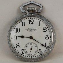16 Size Ball Waltham 19 Jewel Lever Set Official Railroad Standard Pocket Watch 1915