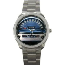 1954 Ford Mainline Ranch Wagon Speedometer Sport Metal Watch - Stainless Steel