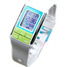 Casio Ldf-51-7adr Unisex Poptone Digital White Resin Watch