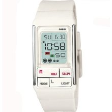 Casio Poptone White Dual Time Alarm Digital Watch LDF-52-7A LDF52