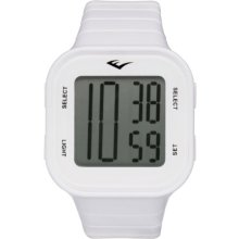 Everlast 33-504 Unisex Digital Watch With Lcd Dial Digital Display And White Plastic Or Pu Strap Ev-504-002