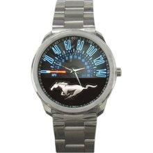 Ford Mustang Speedometer Sport Metal Watch - Metal