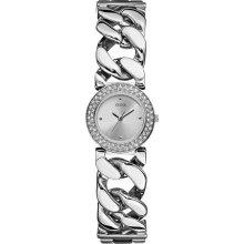 GUESS Silver-Tone Chain Bracelet Ladies Watch U11662L1