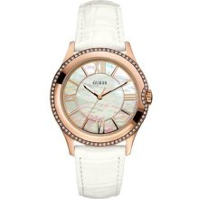 Guess U11679l1 Ladies High Status Shine Mother Of Pearl Dial Watch