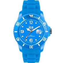Ice-Watch Unisex Quartz Watch With Blue Dial Analogue Display And Blue Silicone Strap Ss.Nbe.Bb.S