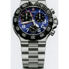 Large Blue Dial Chronograph Summit Xlt Stainless Steel Watch
