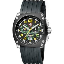 Luminox Mens Limited Edition Tony Kanaan Yellow Plastic Watch - Black Rubber Strap - Black Dial - 1131