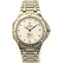 Mens Stainless Steel Concord Saratoga Automatic Watch 14.04.235