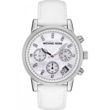 Michael Kors Jet Set Chronograph Leather Ladies Watch MK5049