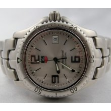 Tag Heuer Link Silver Dial Full Size Quartz Stainless Steel Wt1112