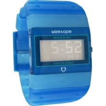 Wize & Ope Unisex Seventy Seven Digital Watch Wo-77-9 With Blue Dial And Touch Screen