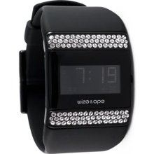 Wize & Ope Unisex All Over Strass Digital Watch Wo-All-2S With Black Dial And Touch Screen