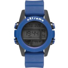 Addison Ross Unisex Quartz Watch With Lcd Dial Digital Display And Blue Silicone Strap Wa0502