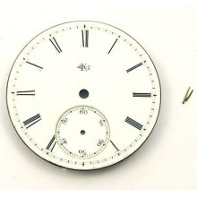 Antique 1874 Elgin 10 Size Hunter Grade 28 Pocket Watch Porcelain Dial & Pins