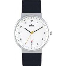BN0032WHBKG Braun Mens All White Black Watch