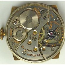 Bulova 10bc Complete Running Wristwatch Movement - Spare Parts / Repair