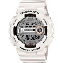 Casio Shock G-shock Gd110-7 Gd-110-7 Gd-110 7 7cr White Lap Memory Watch Bnib