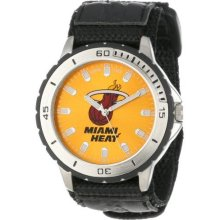 Game Time Official Team Colors. Nba-Vet-Mia Men'S Nba-Vet-Mia Veteran Custom Miami Heat Veteran Series Watch