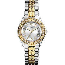 Guess Ladies Dazzling Sport Mixed 2 Tone Metal Watch U0026l1 Original