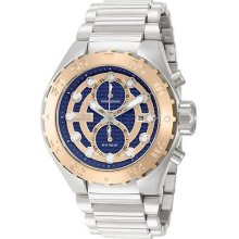 Invicta 13092 Watch Mens Pro Diver Blue Rose Dial Chronograph Quartz 3 Hands