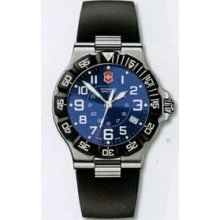 Large Black Dial Summit Xlt Watch With Blue Synthetic Strap