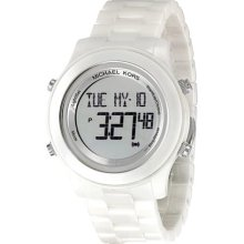 Michael Kors Digital White Ceramic Bracelet Ladies Watch Mk5359