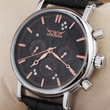 Rose Gold Mens 6 Analog Wrist Watch Automatic Day & Date Dial Fashion & Hq Hour