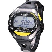Seiko Prospex Super Runners Digital Watch Black Grey Yellow Stp009p1 Limited