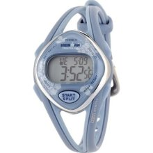 Timex Womens T5k378 Ironman Sleek 50-lap Floral Blue Resin Strap Watch Wristwatc
